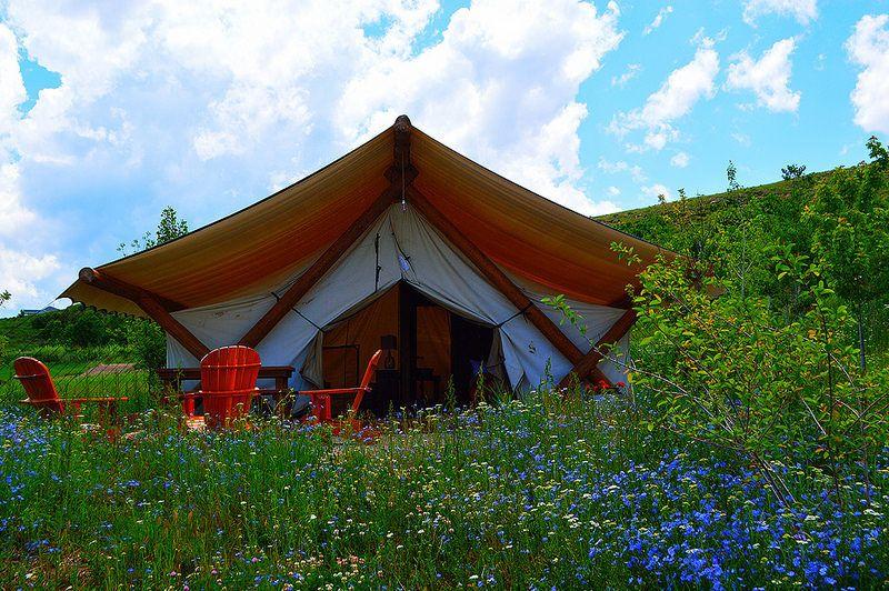 <em>Conestoga Ranch glamping tent</em>