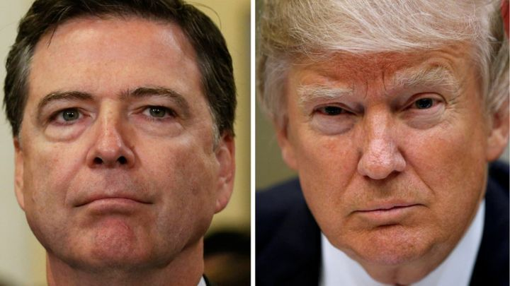 "Image of James Comey and Donald Trump (Courtesy of <a rel=""nofollow"" href=""https://ichef.bbci.co.uk/news/720/cpsprodpb/D759/p"