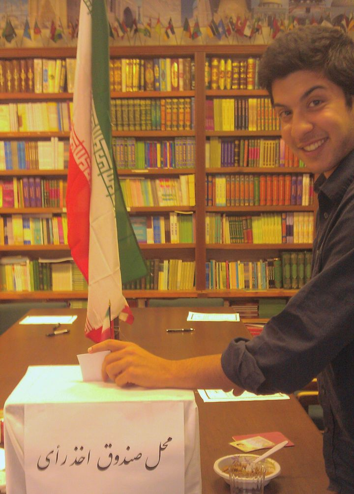 A picture of me voting for the Iranian Presidential Election of 2013 at a polling station in Washington D.C.