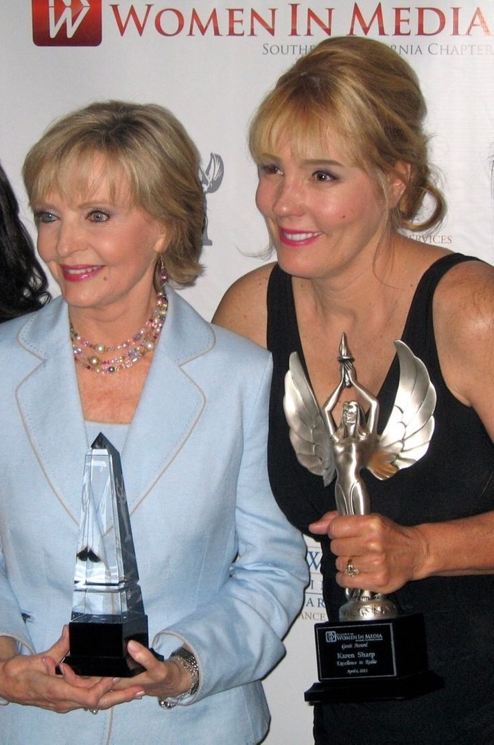 <p>Karen Sharp with Florence Henderson</p>