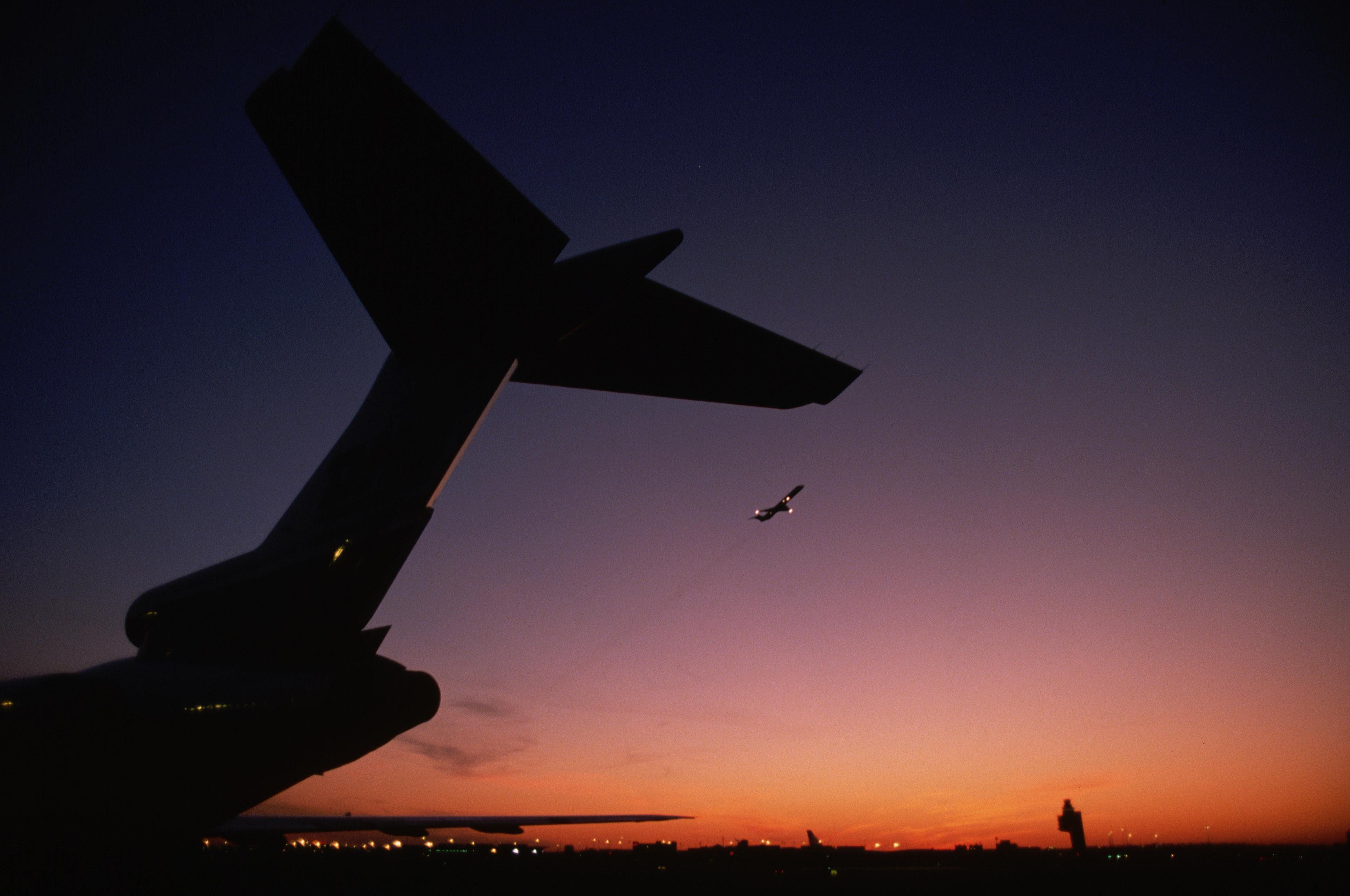 Newark Airport at Twilight
