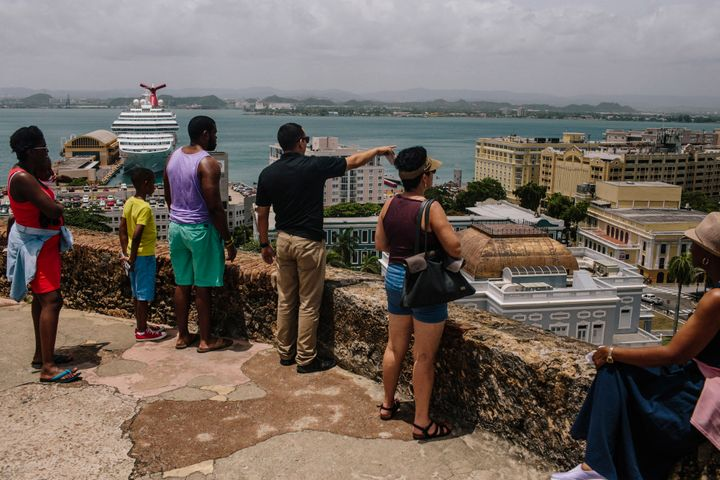 People look out over the Old City of San Juan, Puerto Rico, on Wednesday, July 8, 2015. A growing number of Republicans in th