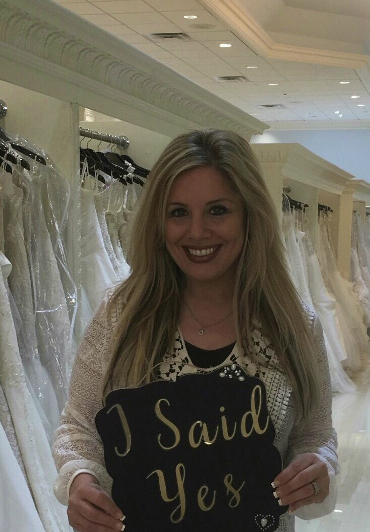 Dress fitting fun at Castle Couture!