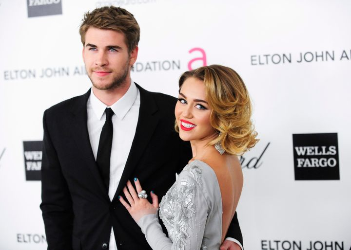 Miley Cyrus and Liam Hemsworth in 2012, prior to their breakup.