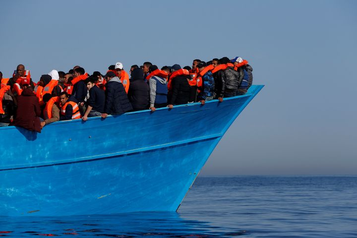Rescuers saved 484 migrants from boats in the Mediterranean on Saturday.