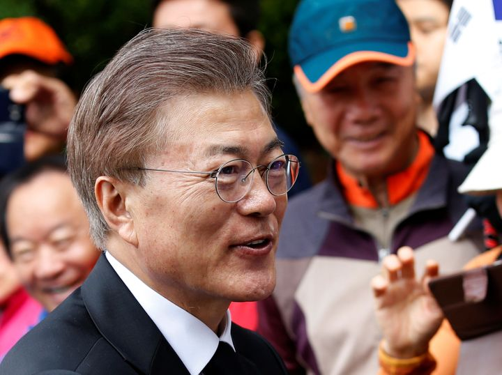 South Korea's President Moon is no less committed to pursuing peace through talks than Trump is busy countering North Ko