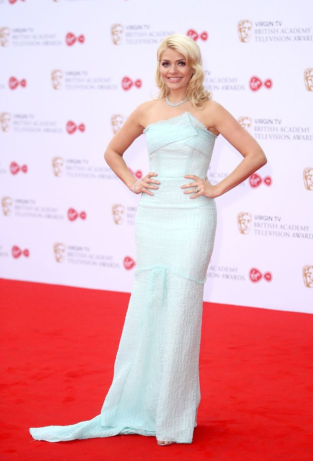 Holly Willoughby attends the Virgin TV BAFTA Television Awards at The Royal Festival Hall on 14 May 2017...