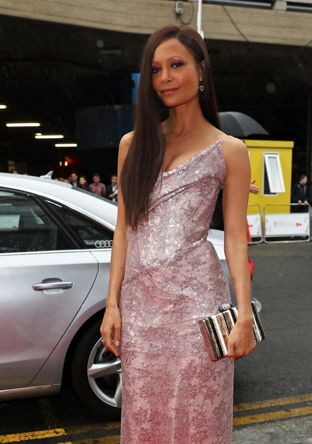 Thandie Newton walks the red carpet at the BAFTA TV awards on Sunday 14 May 2017 in London, United