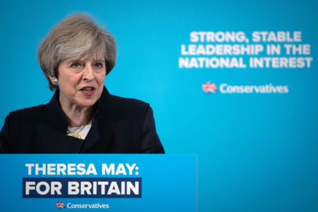 Theresa May addresses supporters in North Shields, Tyne and