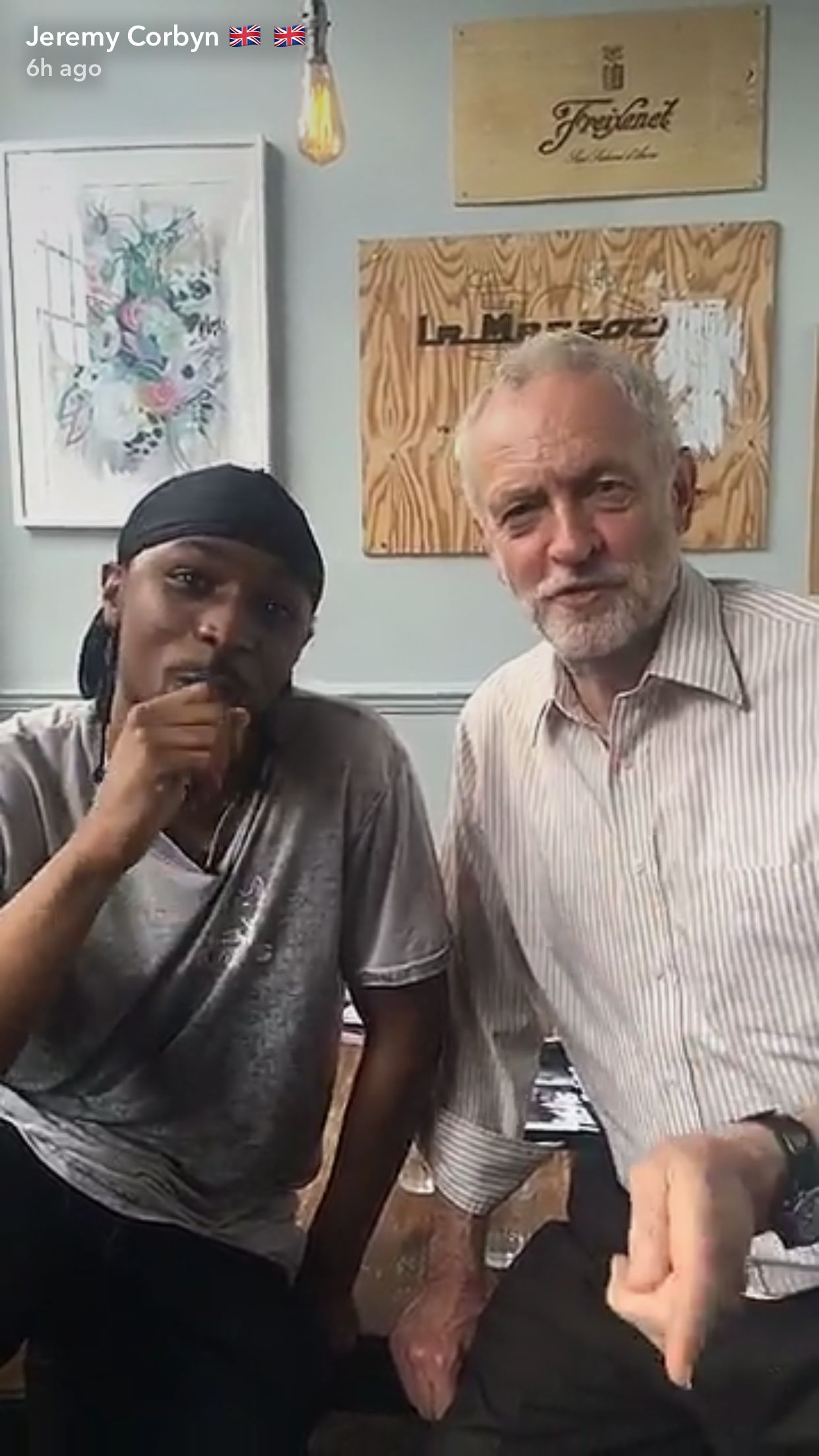 Jeremy Corbyn And Grime Star Jme Join Forces On Snapchat In Vote Registration