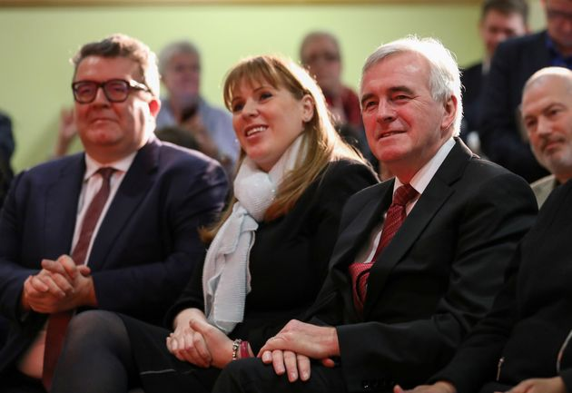 Tom Watson, Angela Rayner and John McDonnell at Labour's local elections launch in