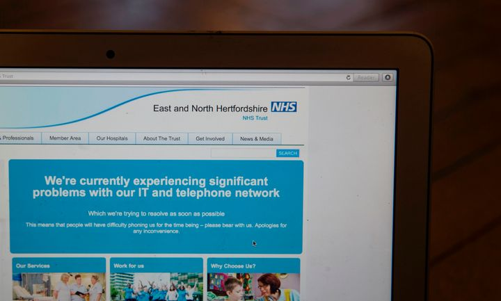 Britain's state-run National Health Service was affected by last week's mass cyber attack.