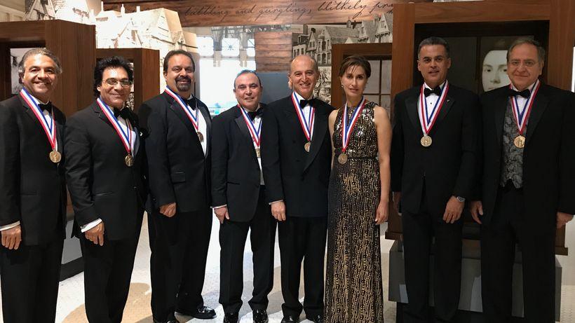 Iranian-American medalists (from left to right) Dr. Shaheen Tedjarati, Andy Madadian, Mohammad Farzaneh, Dr. Hossein Eslambol