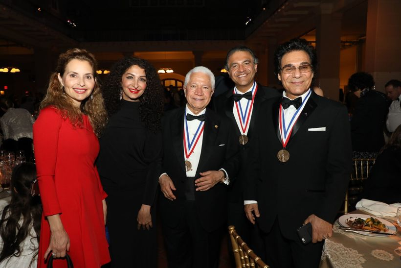 Guests at the 2017 Ellis Island Medals of Honor together with NECO Chairman Nasser Kazeminy (center) and medalists Dr. Shahee