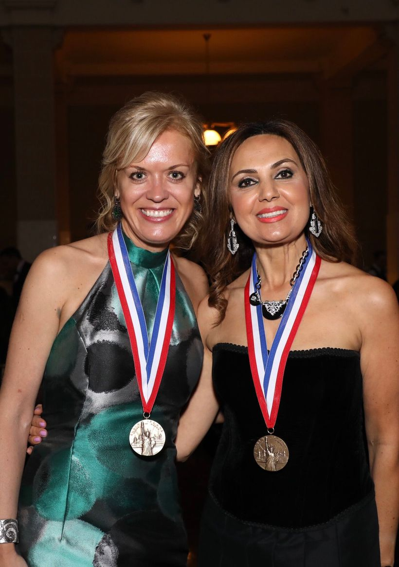 2017 Iranian-American medalist Maggie Soleimani (right) is an attorney and Chair of LA County's Assessment Appeals Board pict