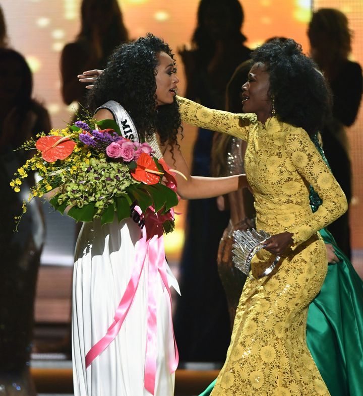 Miss USA 2016 and 2017, both from District of Columbia.