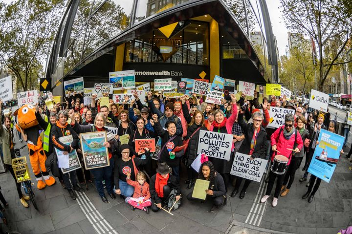 March for Commbank to #StopAdani. Melbourne, Australia