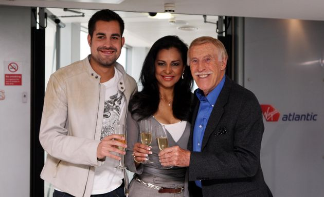 Bruce Forsyth and wife Wilena and son