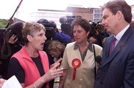 Sharon Storer confronts Tony Blair in