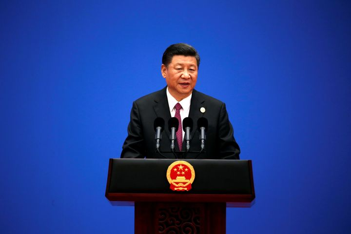 Chinese President Xi Jinping speaks at a news conference at the end of the Belt and Road Forum in Beijing, May 15, 2017.