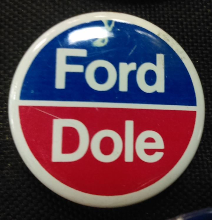 Ford Dole button from the 1976 Campaign.