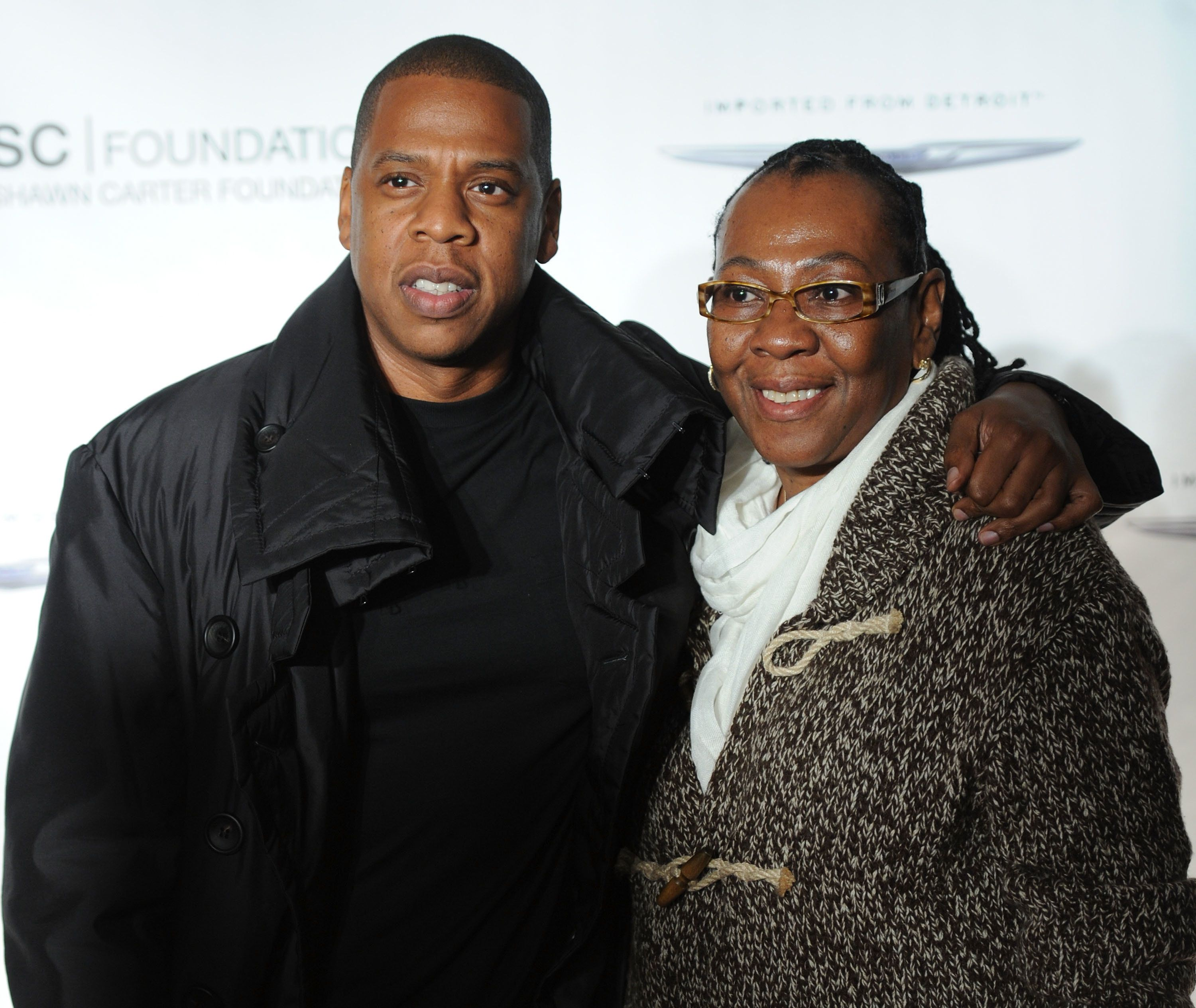 NEW YORK, NY - SEPTEMBER 29:  Jay-Z poses with his mother, Gloria Carter during an evening of 'Making The Ordinary Extraordinary' hosted by The Shawn Carter Foundation at Pier 54 on September 29, 2011 in New York City.  (Photo by Jamie McCarthy/WireImage)