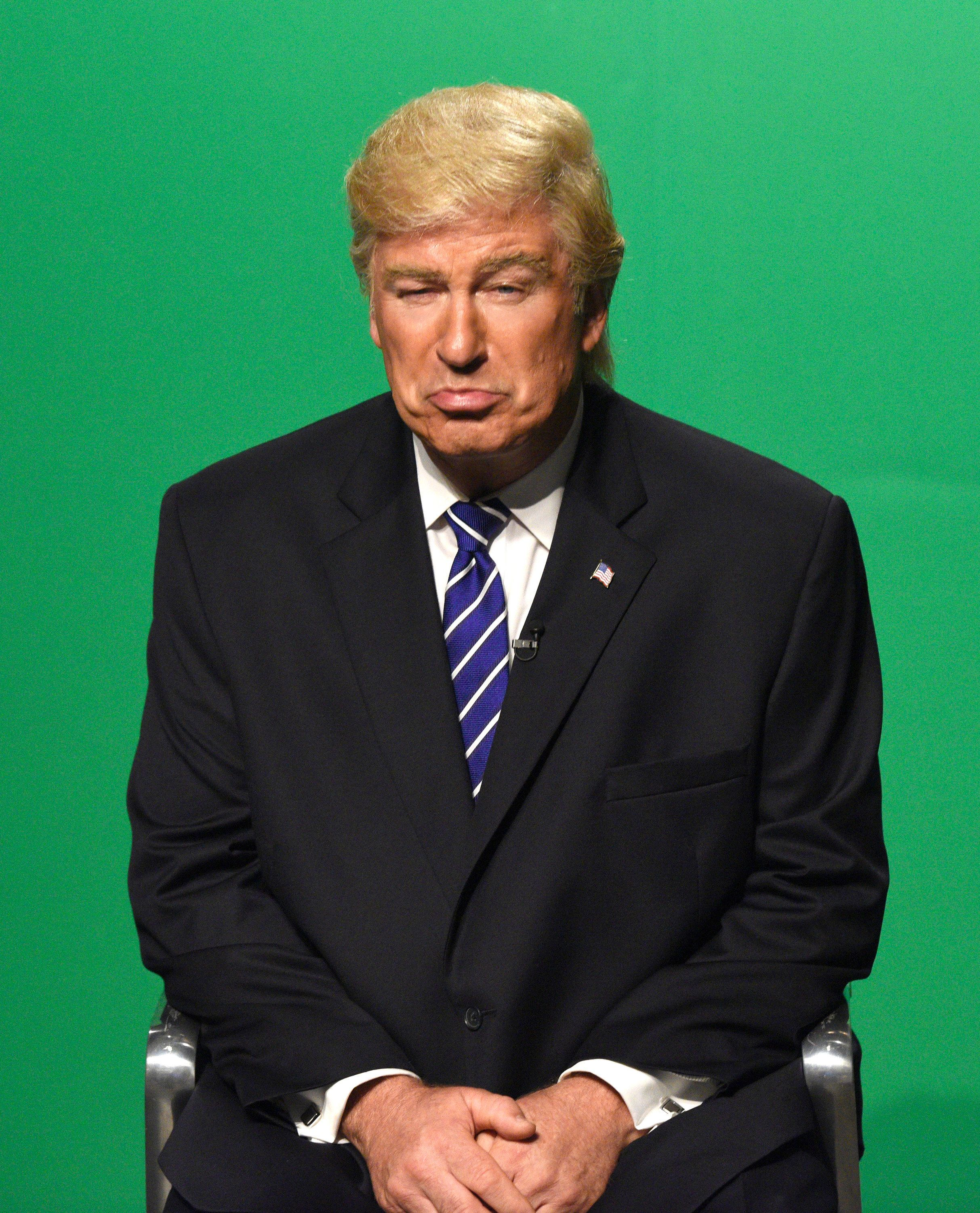 At least one person in the White House digs Alec Baldwin's Trump impersonation.