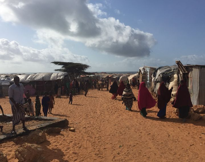 Camp for internally displaced people in Somalia.