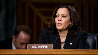 UNITED STATES - MARCH 30: Sen. Kamala Harris, D-Calif., listens during the Senate Select Committee on Intelligence hearing on Russian intelligence activities on Thursday, March 30, 2017. (Photo By Bill Clark/CQ Roll Call)