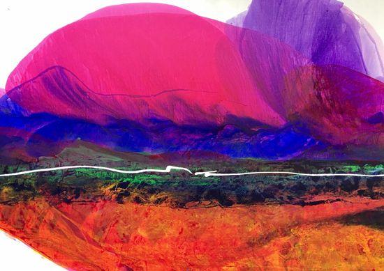 "Santa Fe 66""x46"" Acrylic on Canvas"