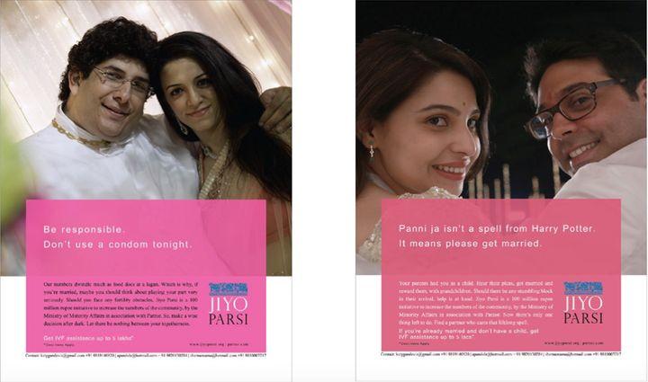 Jiyo Parsi ads, 2014