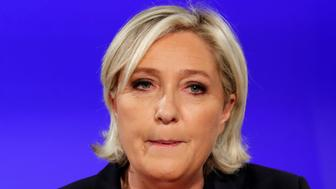 Marine Le Pen, French National Front (FN) political party candidate for French 2017 presidential election, concedes defeat at the Chalet du Lac in the Bois de Vincennes in Paris after the second round of 2017 French presidential election, France, May 7, 2017.    REUTERS/Charles Platiau