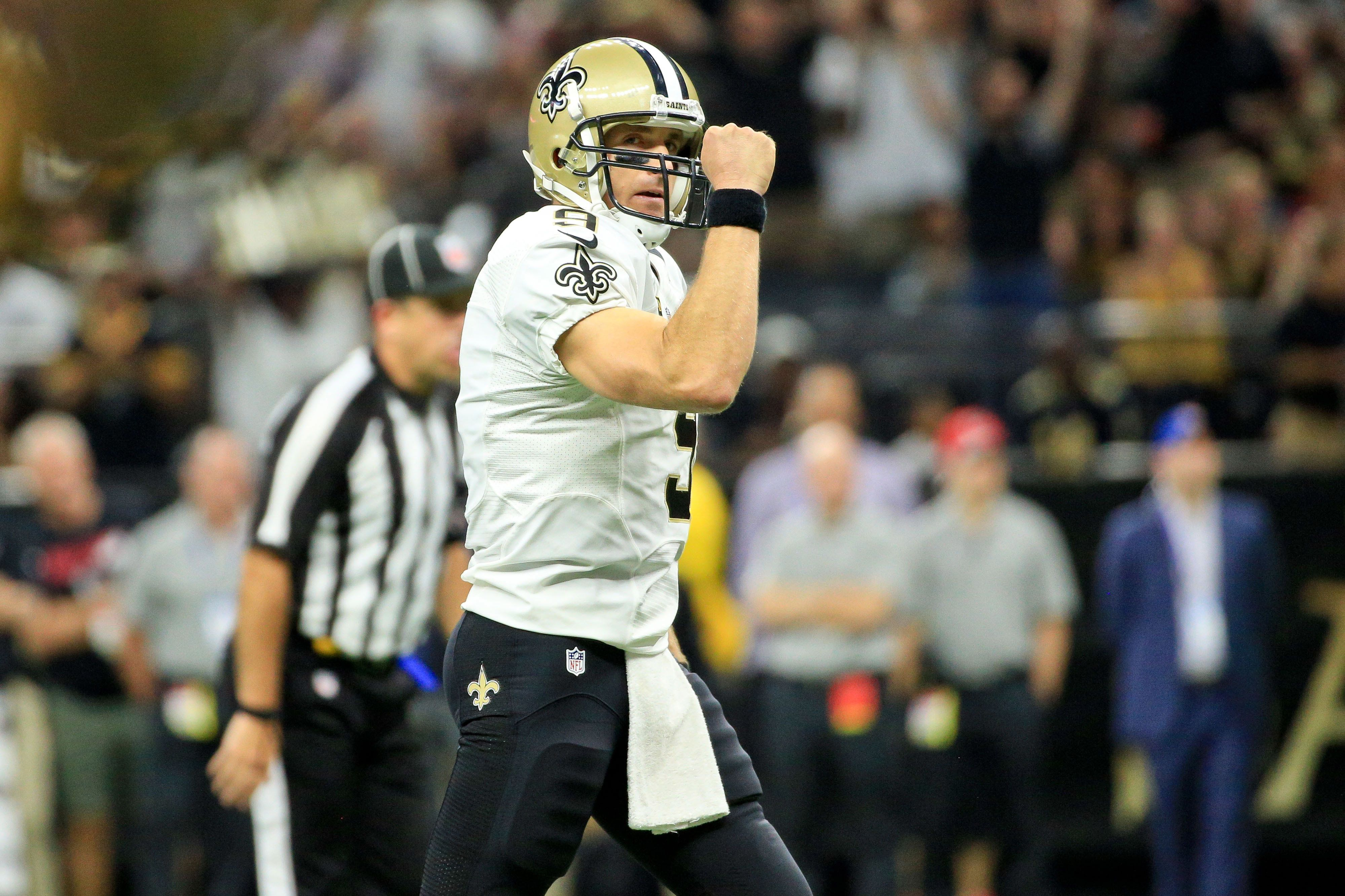 After the NFL's usual long day, Drew Brees said he heads home to see his young children before they go to bed.