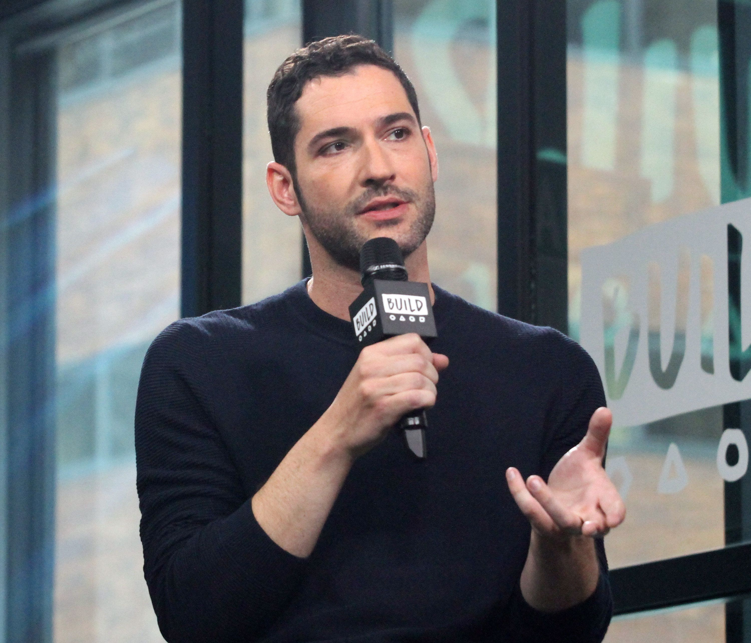 NEW YORK, NY - MAY 12:  Tom Ellis appears to promote 'Lucifer' during the BUILD Series at Build Studio on May 12, 2017 in New York City.  (Photo by Donna Ward/Getty Images)
