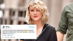Taylor Swift Breaks Silence To Surprise Fan With Graduation