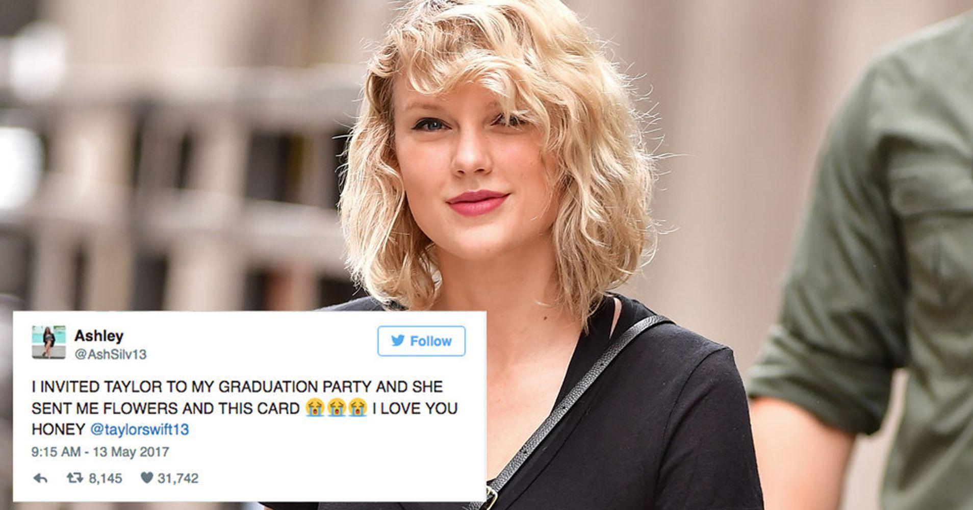 Taylor Swift Breaks Silence To Surprise Fan With ...