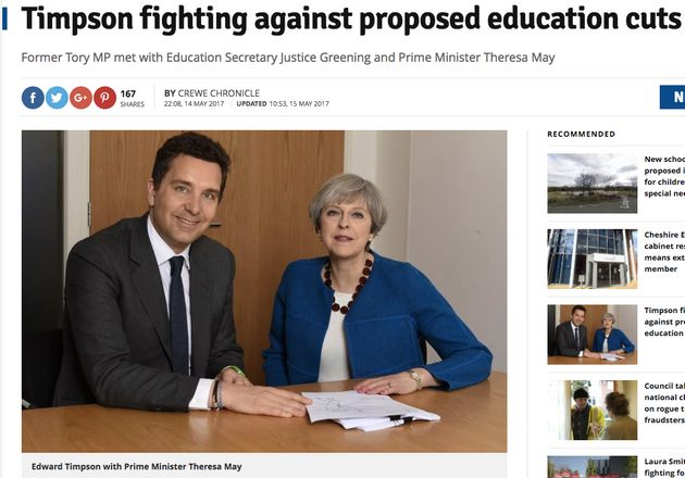 Tory Education Minister Edward Timpson Rails Against His Department's School Funding