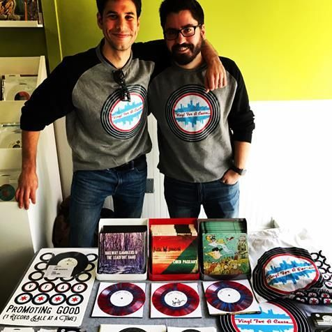 Adam Victorn and Charlie Greengoss - co-founders of Vinyl For a Cause