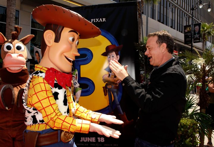 "Tom Hanks at ""Toy Story 3"" premiere."