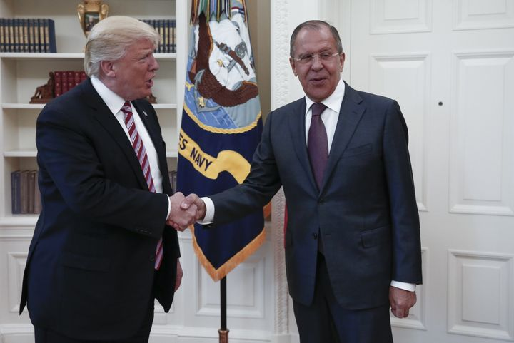 President Donald Trump met with Russian Foreign Minister Sergei Lavrov in a meeting covered by a photographer working for Rus