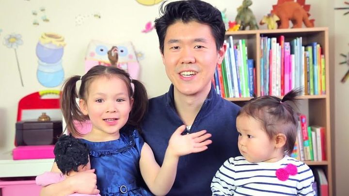 The author and his daughters.