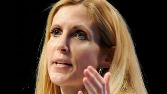 Commentator Ann Coulter delivers remarks to the Conservative Political Action conference (CPAC) in Washington, February 12, 2011. REUTERS/Jonathan Ernst  (UNITED STATES - Tags: POLITICS ENTERTAINMENT)