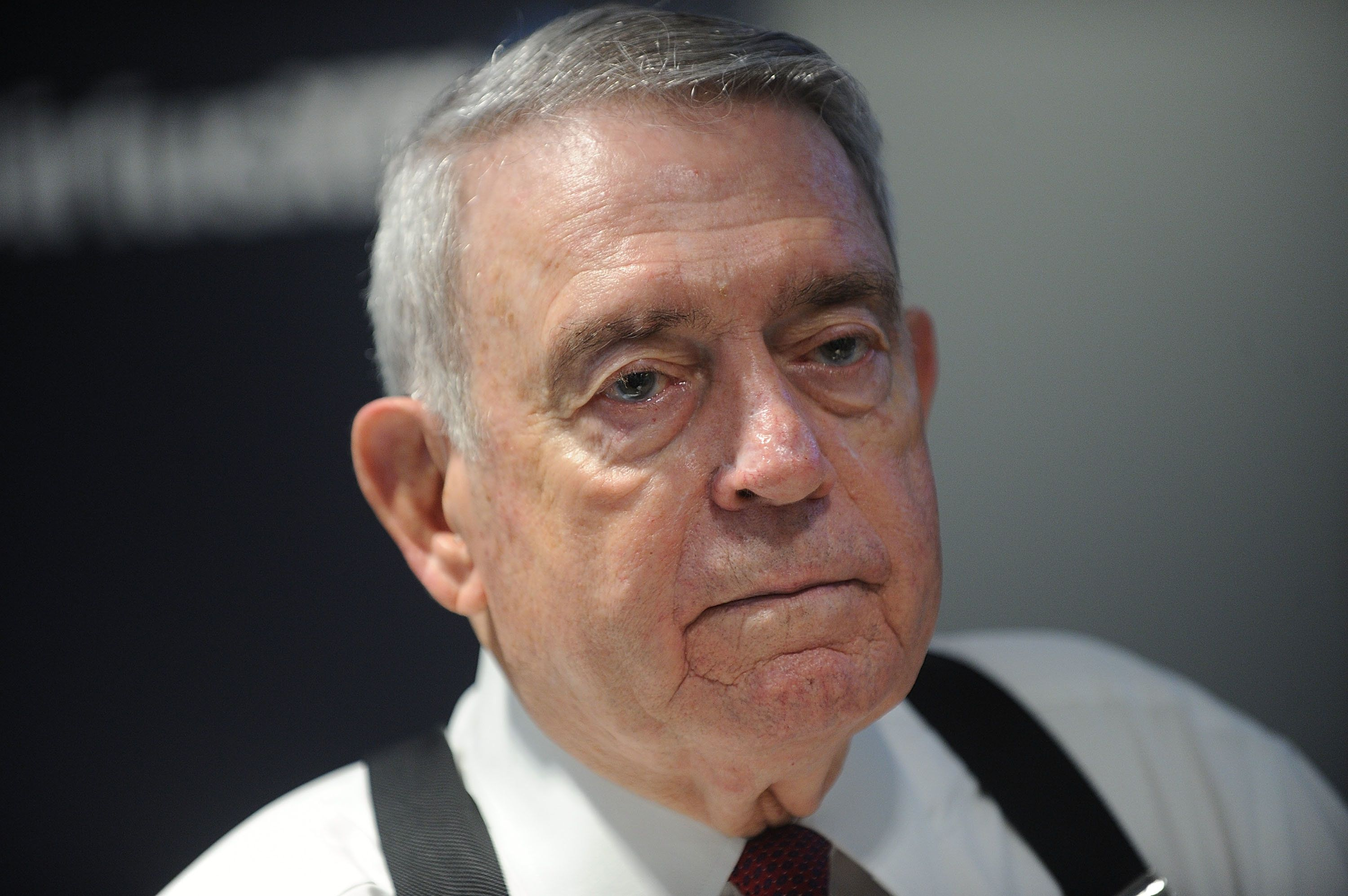 NEW YORK, NY - AUGUST 25:  Journalist Dan Rather attends celebrities visit SiriusXM on August 25, 2016 at SiriusXM Studio on August 25, 2016 in New York City.  (Photo by Brad Barket/Getty Images)