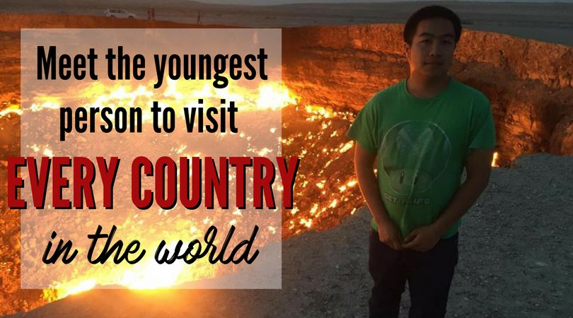 Eric Nguyen at the Door to Hell in Turkmenistan.