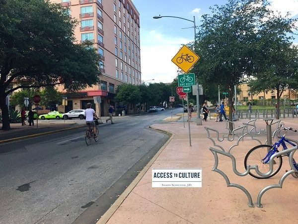 In 2015 Austin, Texas  achieved gold level status on the League of American Bicyclists' list of Bicycle Friendly Communities.