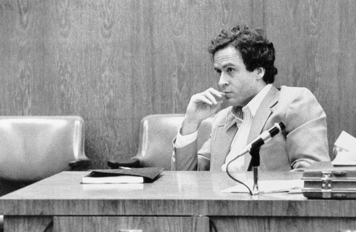 Ted Bundy, on trial for the murder of a 12-year-old girl, in 1979.