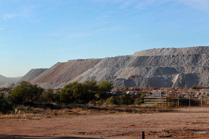 A view of the Maules Creek coal mine under development in June2014.
