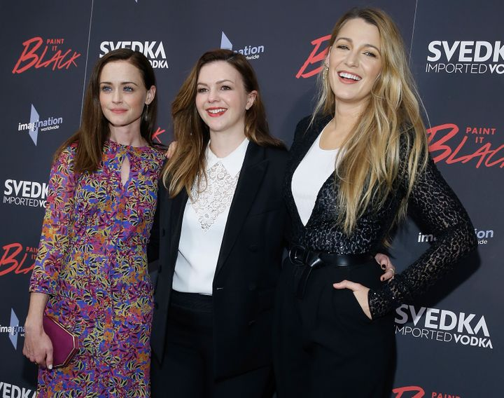 "Alexis Bledel, Amber Tamblyn and Blake Lively attend ""Paint It Black"" New York premiere at the Museum of Modern Art on May 15"