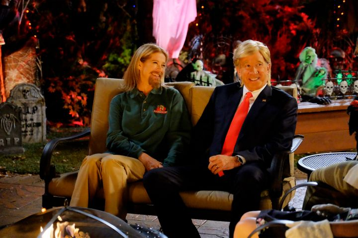 """Mike Baxter (Tim Allen) shows up to the family's Halloween party dressed as Donald Trump on an episode of """"Last Man Standing."""