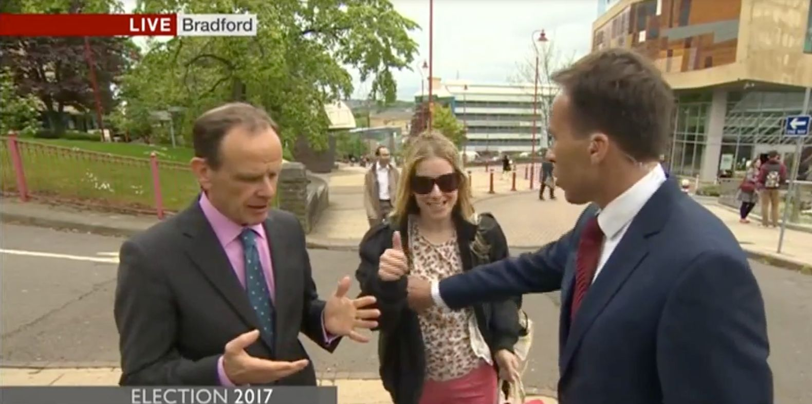 BBC's Ben Brown Slapped After AccidentallyPushing Woman Away By The